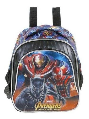 kit mochila costas lancheira estojo avengers armored  xeryus