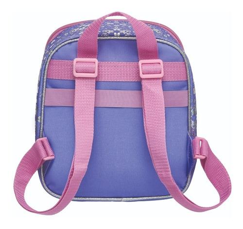 kit mochila costas + lancheira + estojo monica lago coelhos - pacific