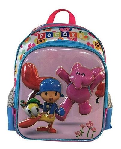 kit mochila costas m  + lancheira pocoyo - rosa - santino