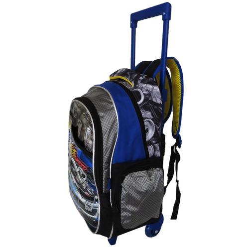 kit mochila de carro infantil escolar masculino com rodinhas