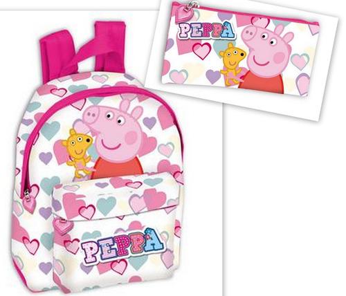 kit mochila e estojo da peppa pig - nova coleção 2015