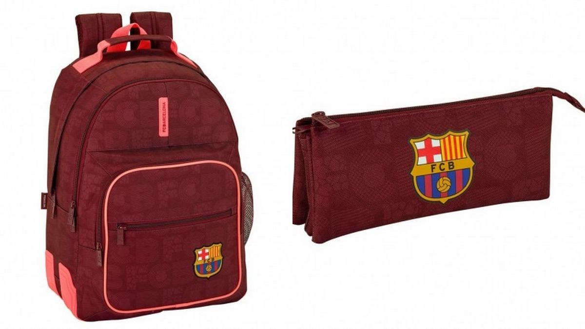 d3e99bd283675 Kit Mochila E Estojo Fc Barcelona Oficial Importado Europa - R  430 ...