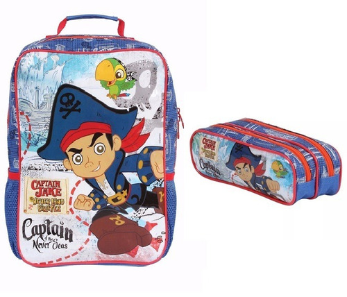 kit mochila e estojo  jake e os piratas xeryus- 36970