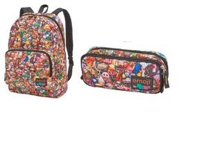 138c7c15c Kit De Mochila E Estojo Emoji no Mercado Livre Brasil