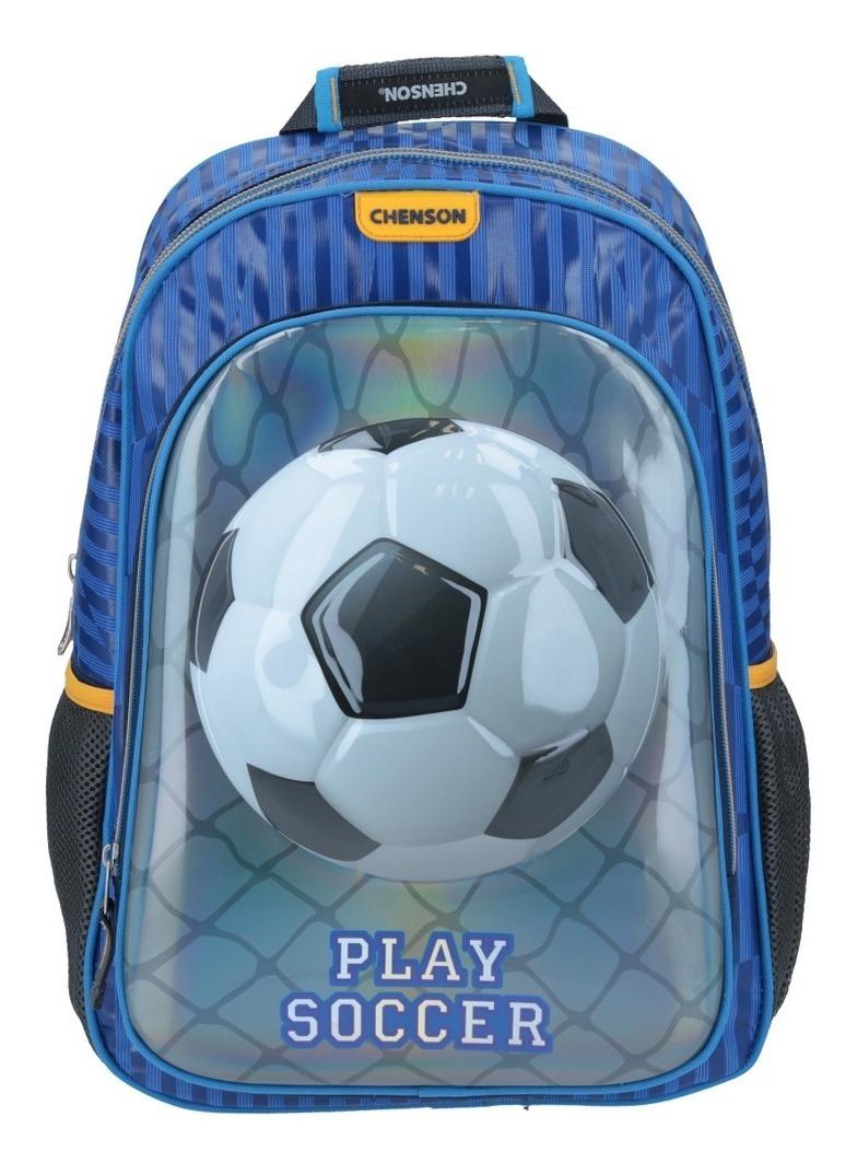varios estilos estilo moderno más de moda Kit Mochila Escolar Chenson Niño + Lapicera Futbol Soccer