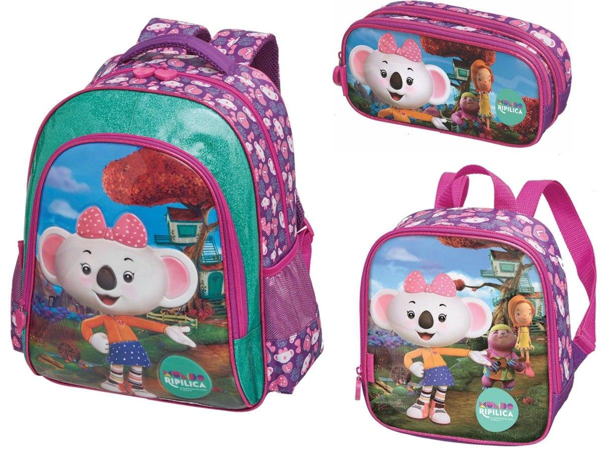 56e72feb20421 kit mochila escolar costas lilica ripilica 2019 mundo lilica. Carregando  zoom.