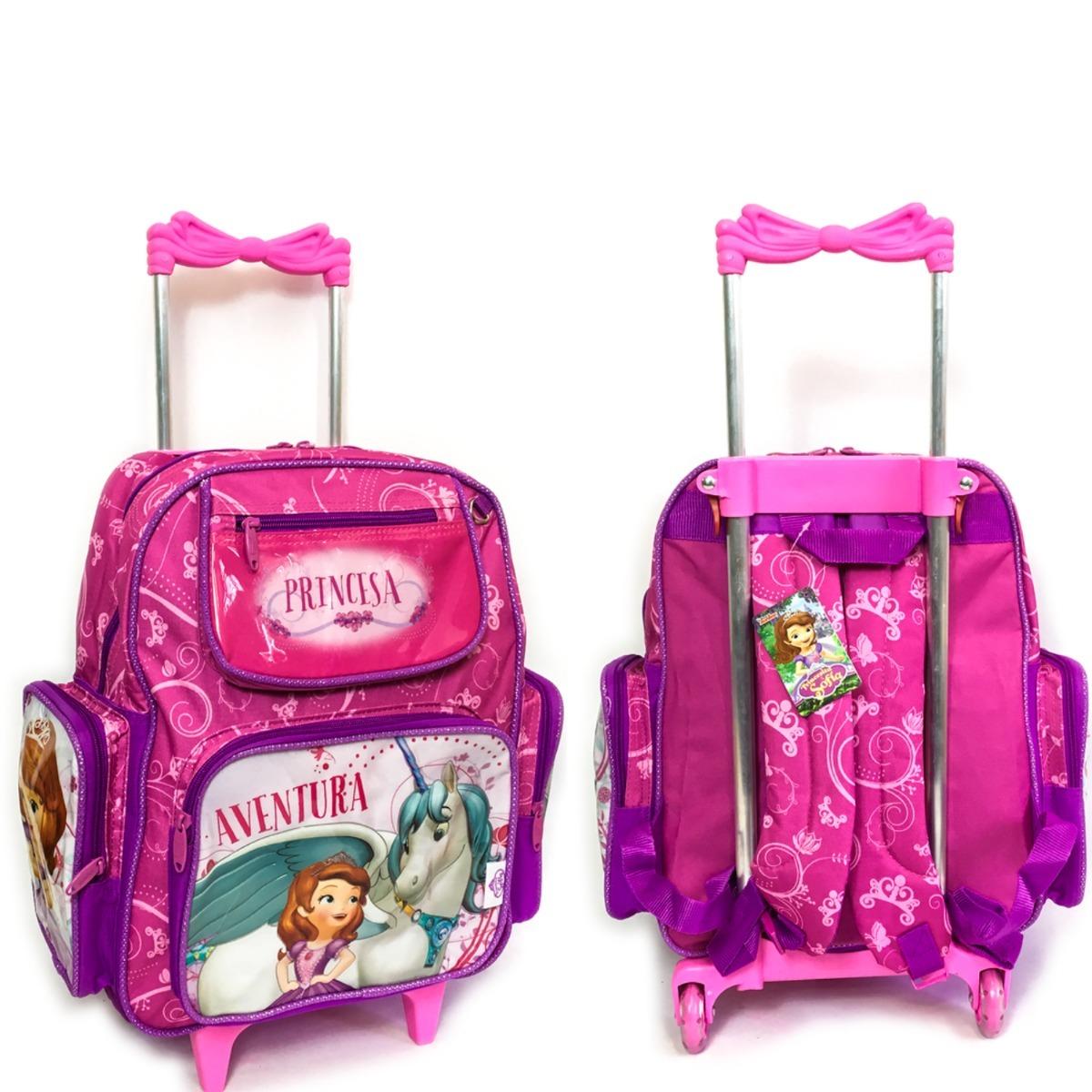 73c4c98bb7 kit mochila escolar c rodinhas princesa sofia lancheira 2019. Carregando  zoom.