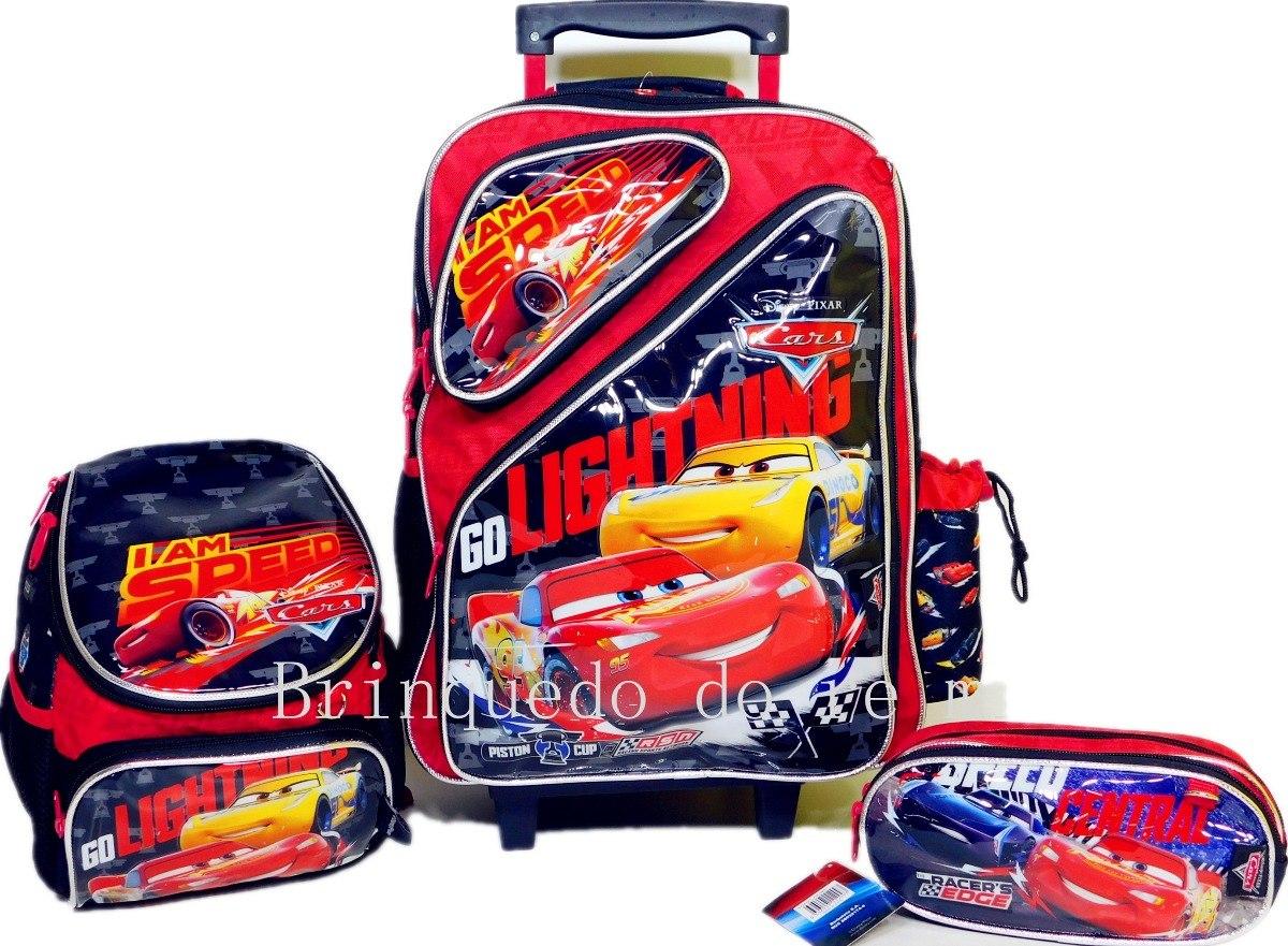 18578db044 kit mochila escolar de rodinhas carro 3 g 2019. Carregando zoom.