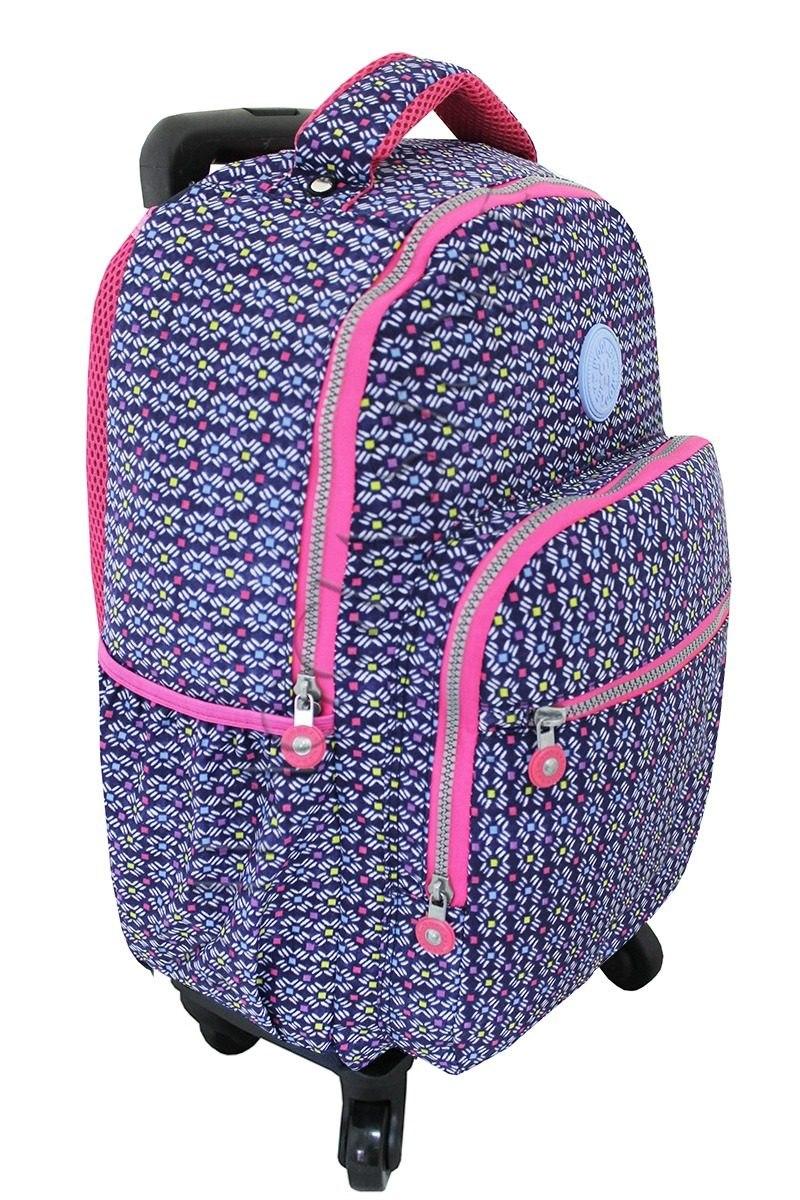 05bded844 Kit Mochila Escolar Feminina Rodinhas 360 - R$ 266,49 em Mercado Livre