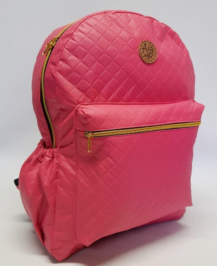 0d795421f Kit Mochila Escolar + Fichário A4 Zíper Bolso + Estojo Pink - R$ 194 ...