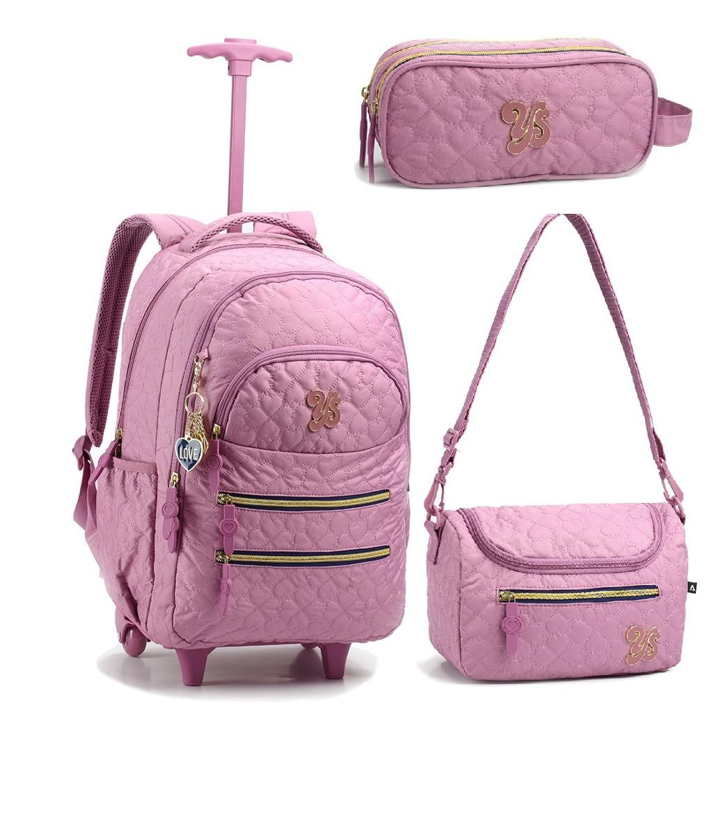 f9c027392 kit mochila escolar infantil com rodinhas em promoção 2019. Carregando zoom.