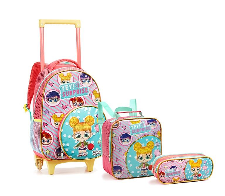 0954a55eb Kit Mochila Escolar Infantil Com Rodinhas Promoção Feminina - R$ 159 ...