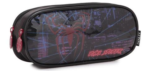 kit mochila escolar infantil dark spider com rodinhas dl0351