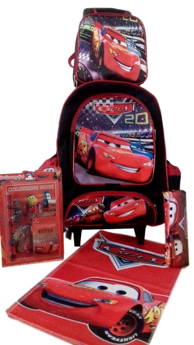 76a96d0887 kit mochila escolar infantil de rodinhas carros + lancheira. Carregando zoom .