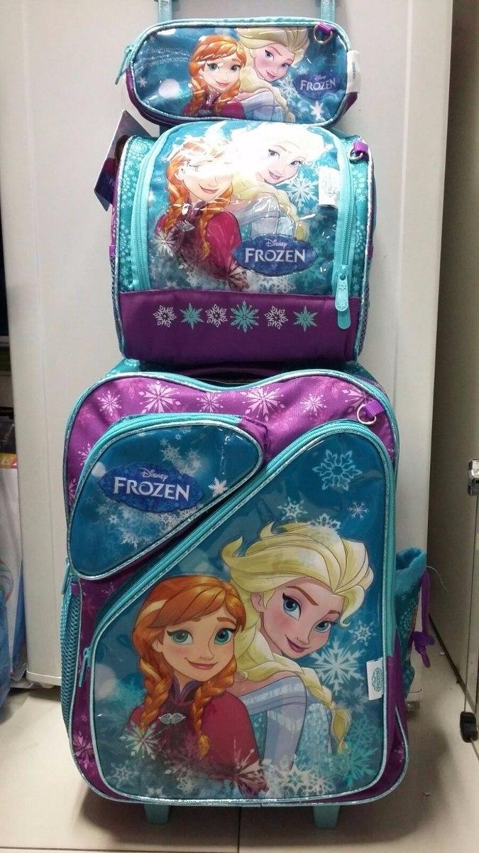 20cdd0c471 kit mochila escolar infantil de rodinhas frozen coleção 2016. Carregando  zoom.