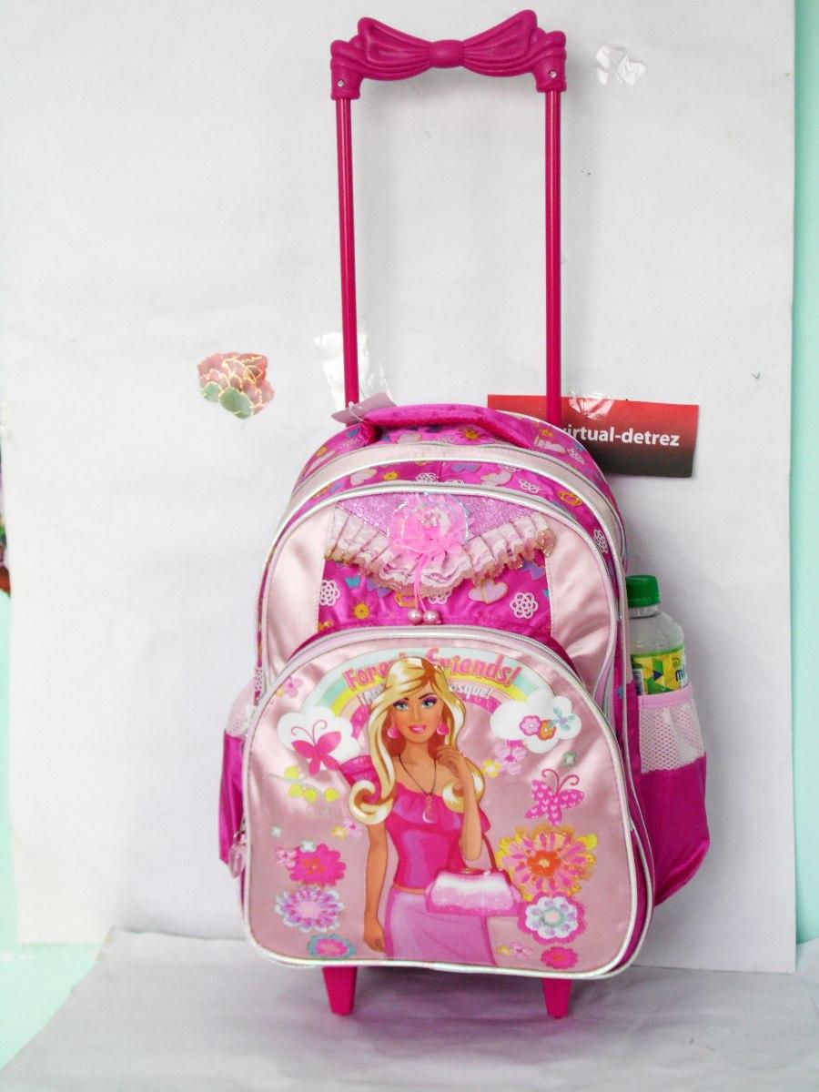 Bolsa Escolar Feminina Infantil : Kit mochila escolar infantil feminina com rodinhas r