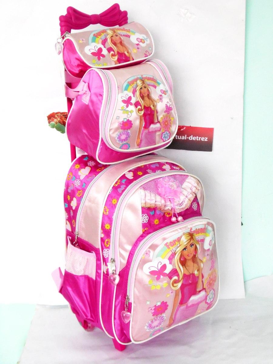 Bolsa Escolar Feminina Mercado Livre : Kit mochila escolar infantil feminina com rodinhas r
