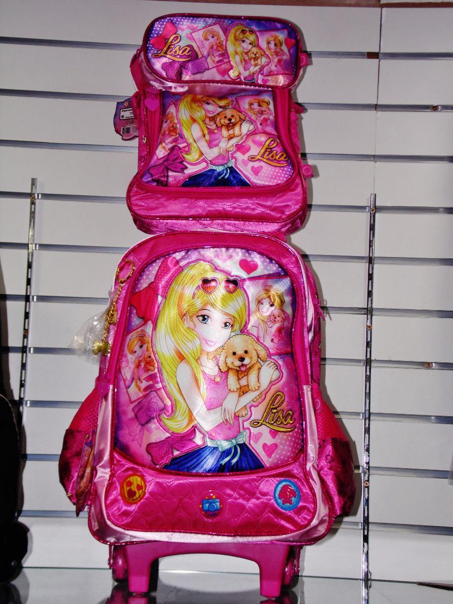 4a2369eae kit mochila escolar infantil feminina com rodinhas princesa. Carregando  zoom.