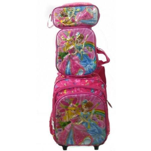 2a72a4dc3 Kit Mochila Escolar Infantil Feminina Princesas C/rodinhas - R$ 199,00 em  Mercado Livre