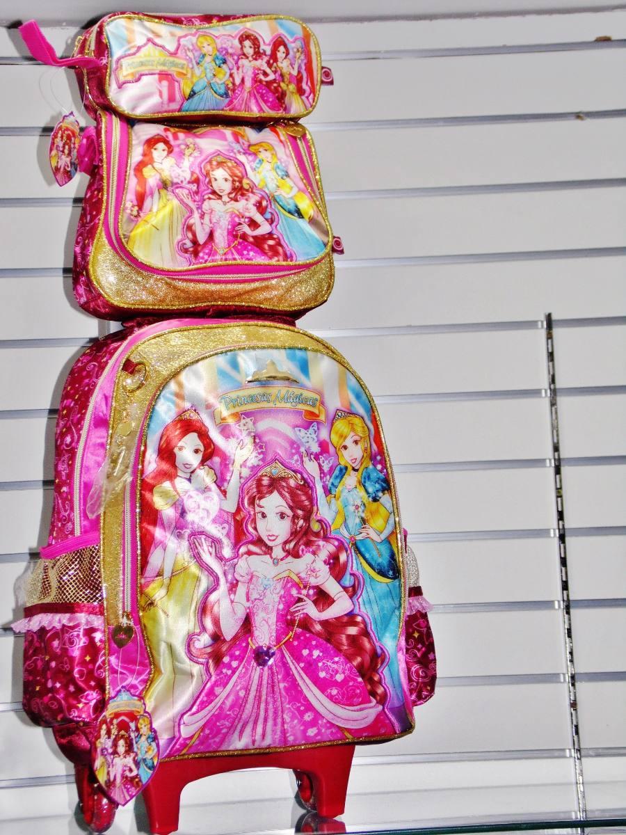 972092f19 kit mochila escolar infantil feminina princesas mágicas. Carregando zoom.