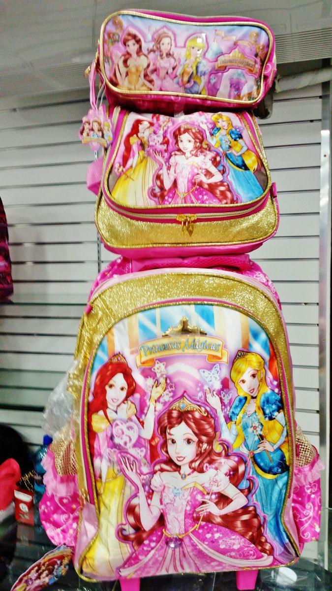 67e83c36f kit mochila escolar infantil feminina princesas magicas. Carregando zoom.
