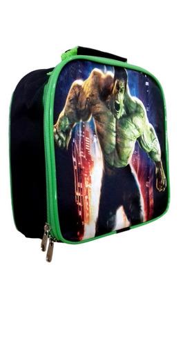 kit mochila escolar infantil hulk marvel+ lancheira e estojo