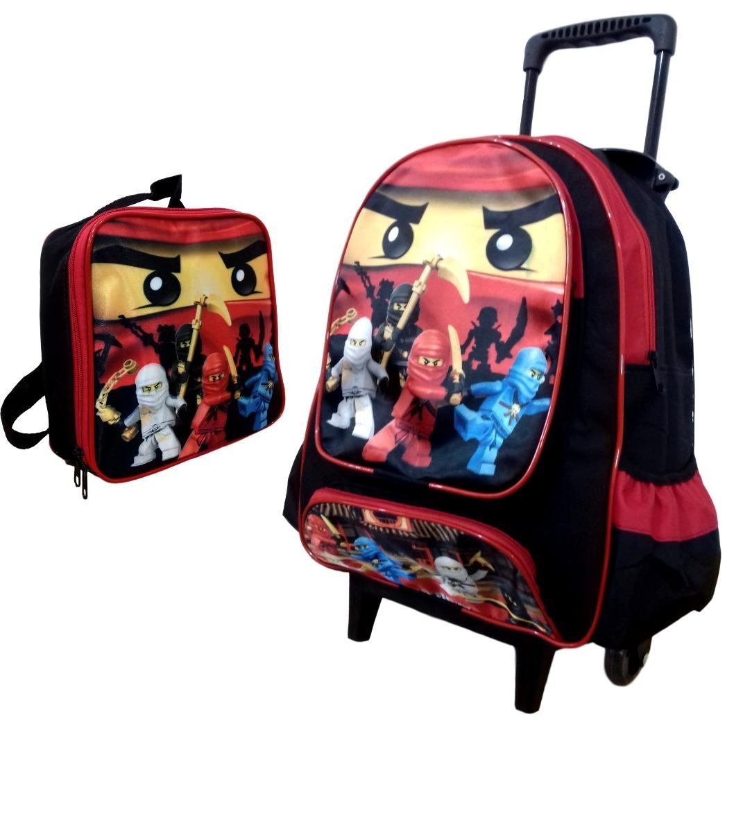5244b2b0f kit mochila escolar infantil ninjago lancheira térmica. Carregando zoom.