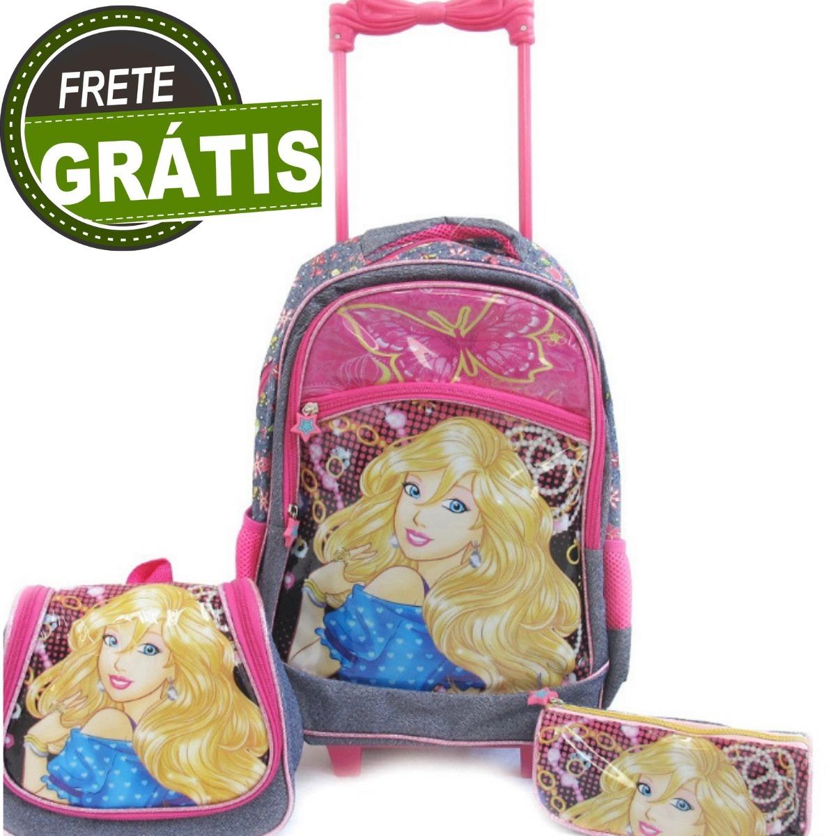 56ae56b59 Kit Mochila Escolar Infantil Rodinha 3 Peças Promoção - R$ 120,00 em ...