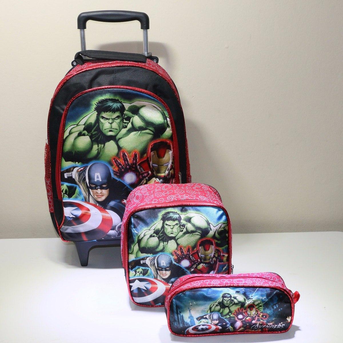 8418c0247 kit mochila escolar infantil rodinha vingadores - promoção. Carregando zoom.