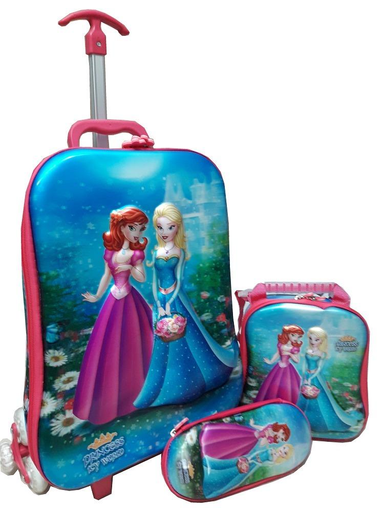 8ea66565c kit mochila escolar infantil rodinhas frozen feminina 6d. Carregando zoom.