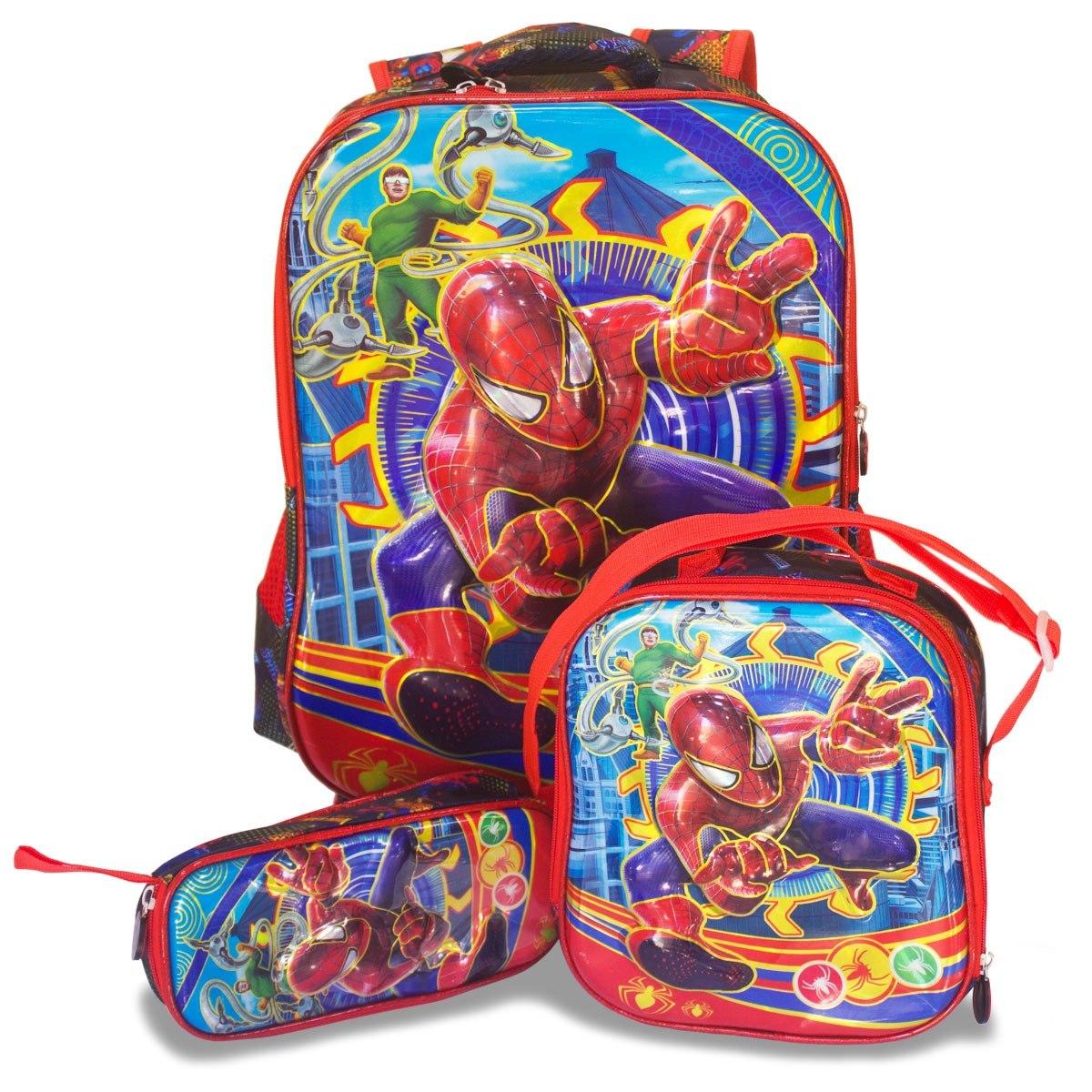 815b0b9a3 kit mochila escolar infantil rodinhas homem aranha masculina. Carregando  zoom.
