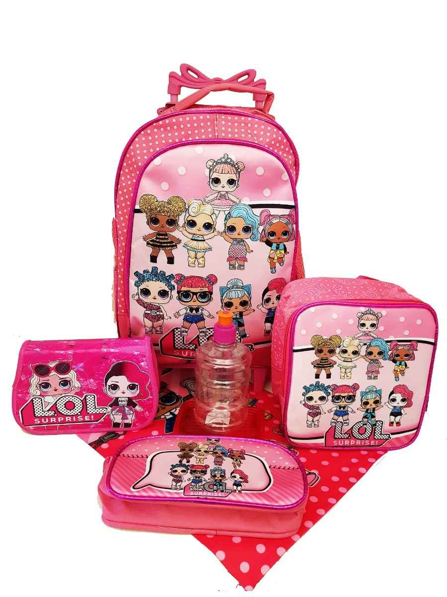 d73ead41a kit mochila escolar lol surprise bolsinha estojo lancheira. Carregando zoom.
