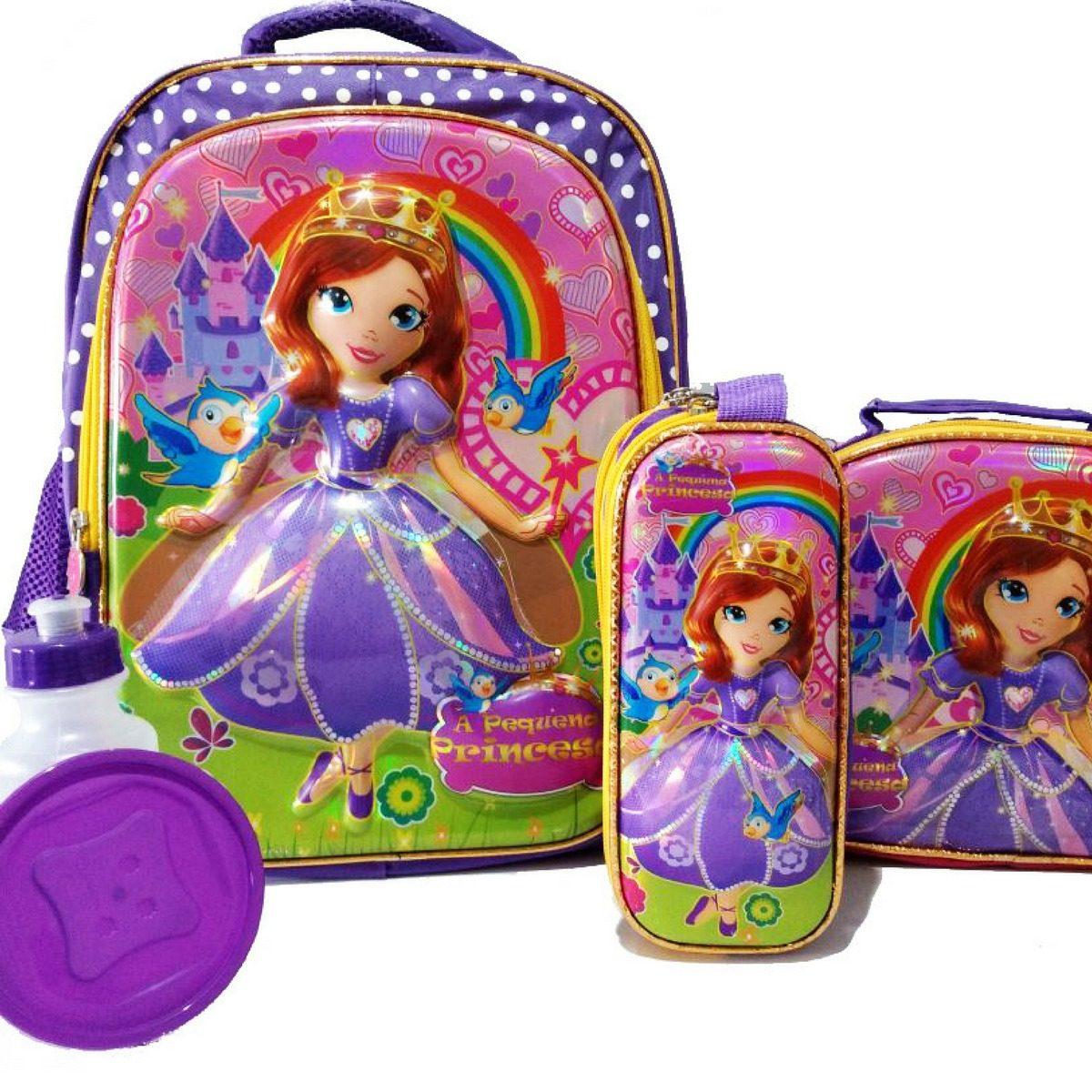 09a550c05e ... 270ad3ac22c kit mochila escolar princesa sofia 3d costas tam g barata. Carregando  zoom.