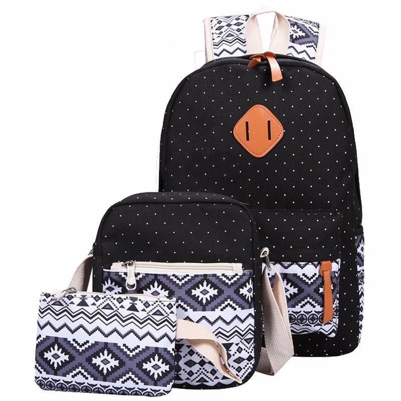Bolsa De Lona Feminina Tiracolo : Kit mochila feminina bolsa tiracolo e necessaire em lona