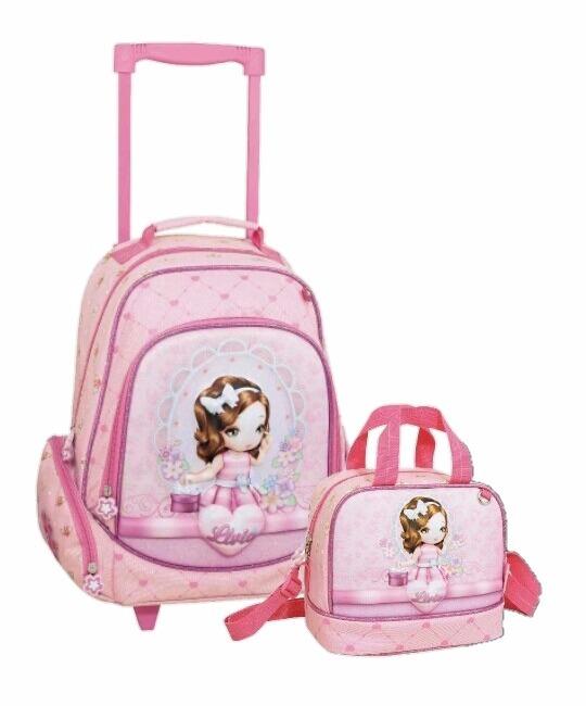d0d664adf Kit Mochila Feminina E Lancheira Infantil Princesa Livia - R$ 198,00 ...