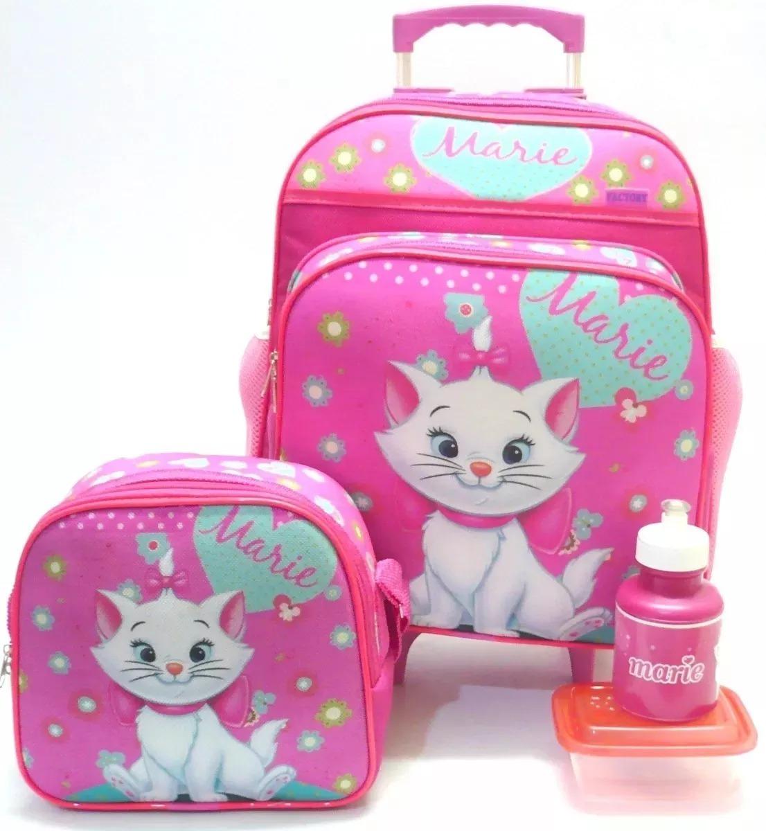 115e1663c kit mochila g infantil gatinha marie rodinhas menina rosa f4. Carregando  zoom.