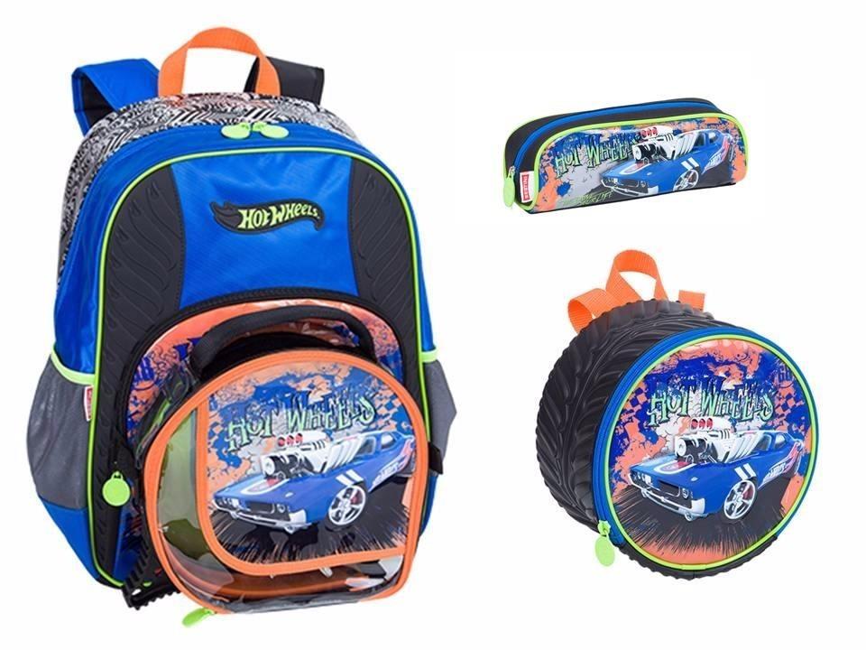 64e22a3271 Kit Mochila Gg + Lancheira + Estojo Hot Wheels 16z Sestini - R  189 ...