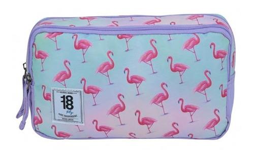 kit mochila grande y lapicera flamingo 1818 chenson