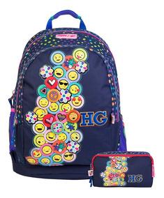 mejor selección 20858 8660a Kit Mochila Grande Y Lapicera Happy Girl Emojis Chenson