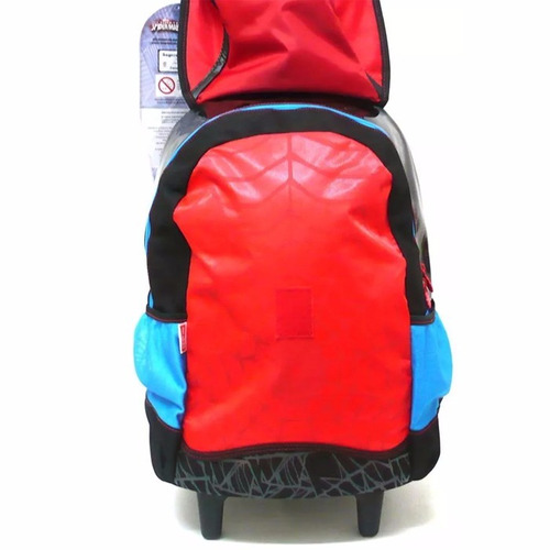 kit mochila homem aranha original tam g + lancheira + brinde