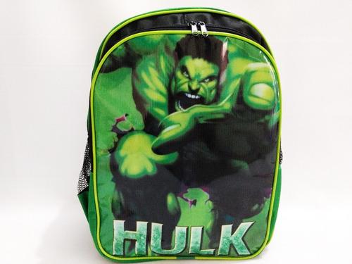 kit mochila hulk de costas infantil vingadores frete gratis