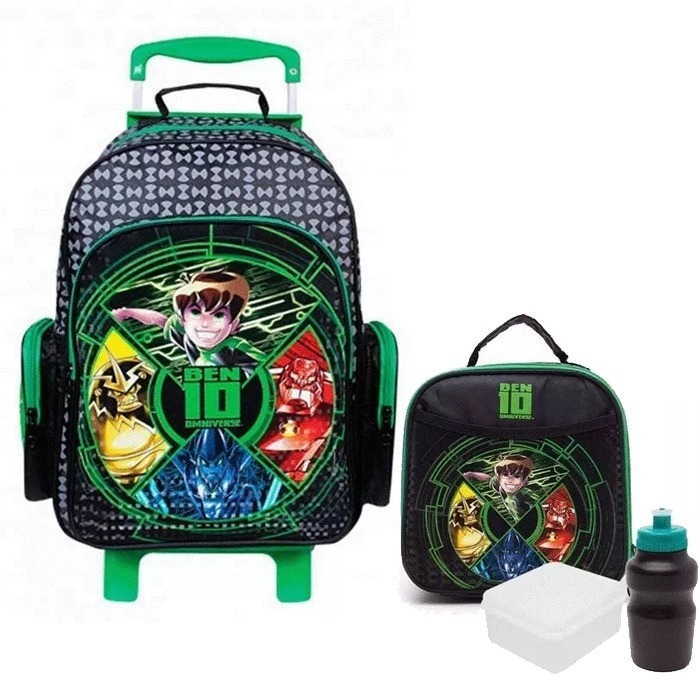 23d1fed42 Kit Mochila Infantil Ben 10 Omniverse Original Tam M+ Brinde - R ...