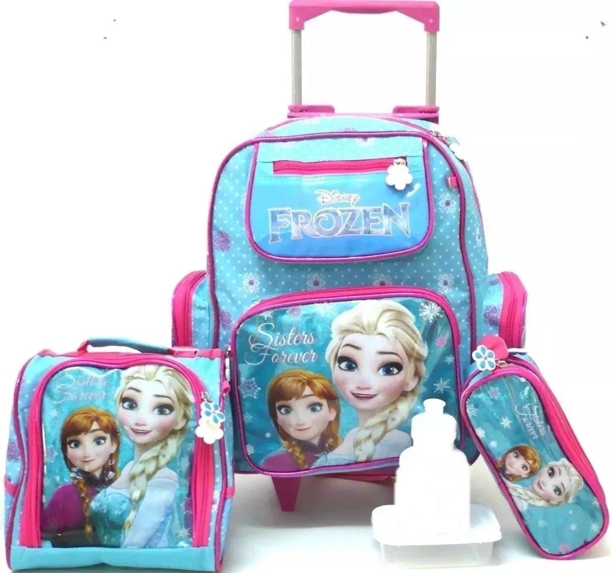 22fd02de3 Kit Mochila Infantil De Rodinhas Frozen Original 2019 - R$ 168,00 em ...