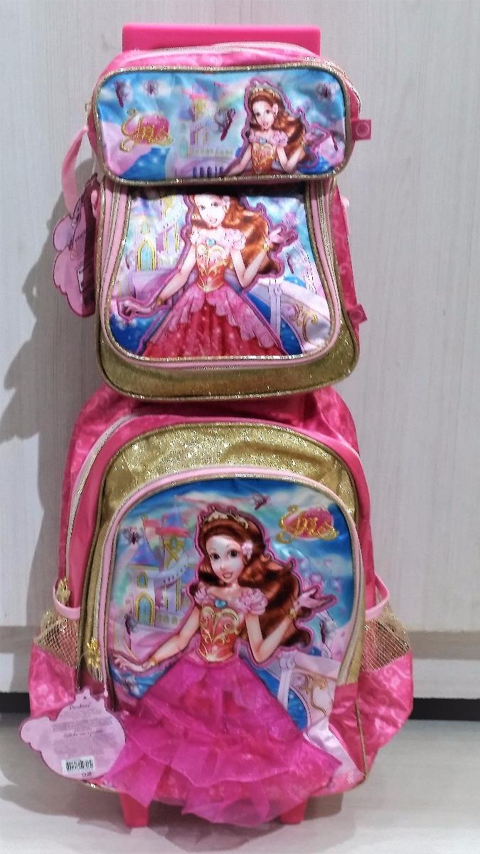 7c8cda0b3 kit mochila infantil escolar feminina princesas c/ rodinhas. Carregando  zoom.