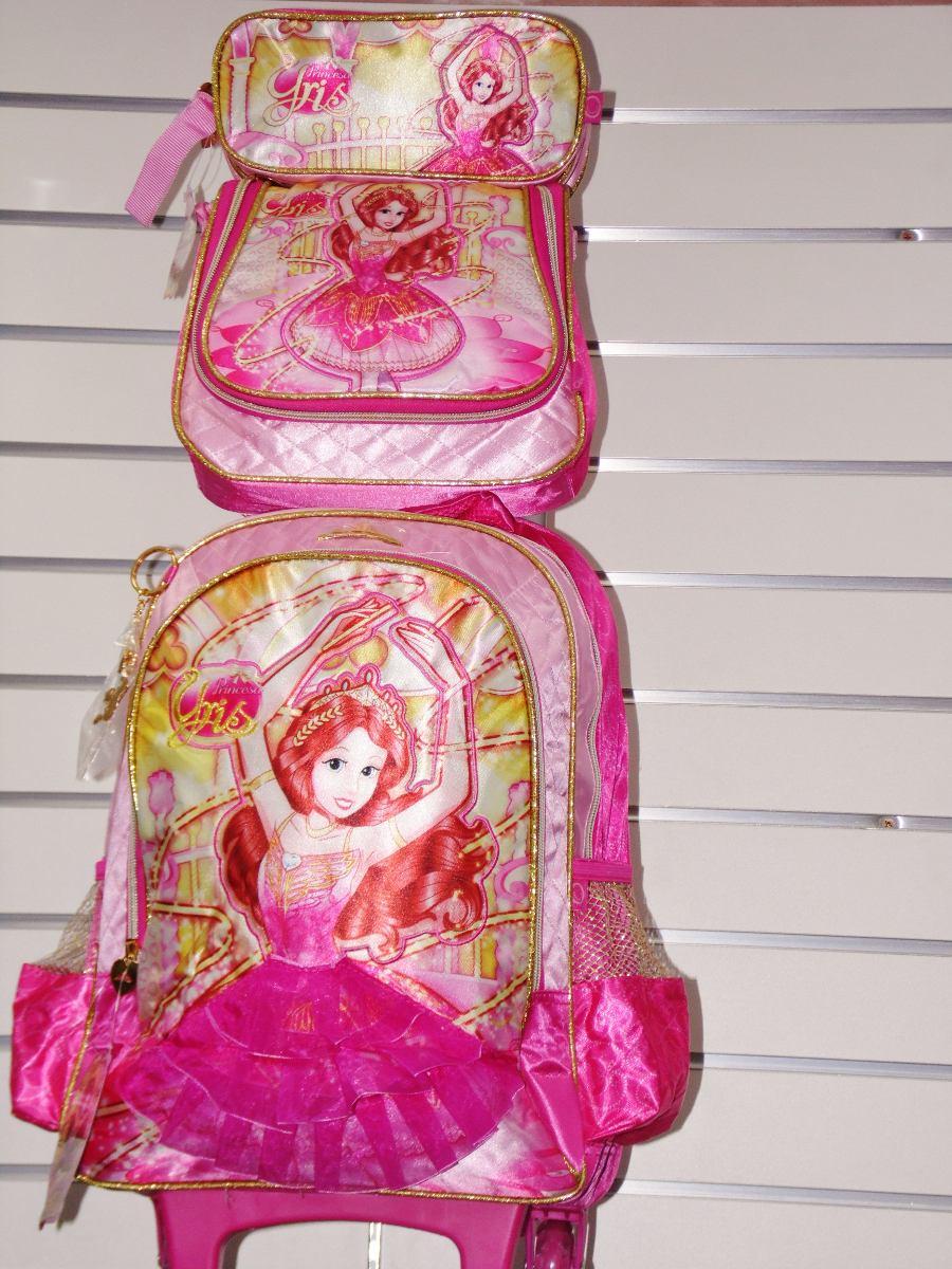 282bfb439 Kit Mochila Infantil Escolar Feminina Princesas Yris - R$ 199,99 em ...