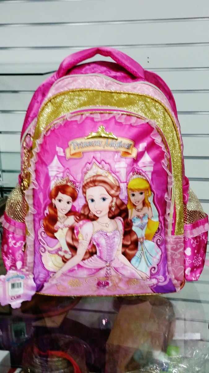 Bolsa Escolar Infantil Feminina Mercado Livre : Kit mochila infantil feminina escolar as princesas m?gicas