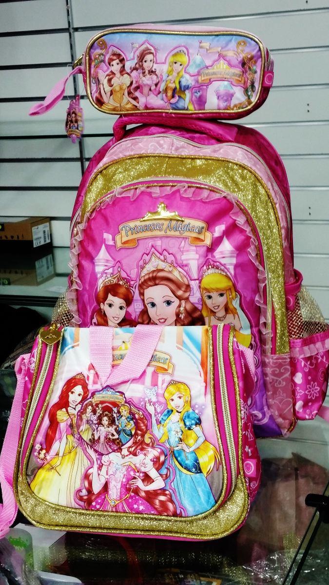 c32cb75fc kit mochila infantil feminina escolar as princesas mágicas. Carregando zoom.