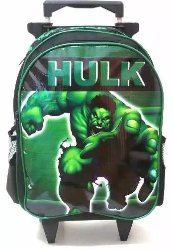 kit mochila infantil hulk avengers rodinhas tam g