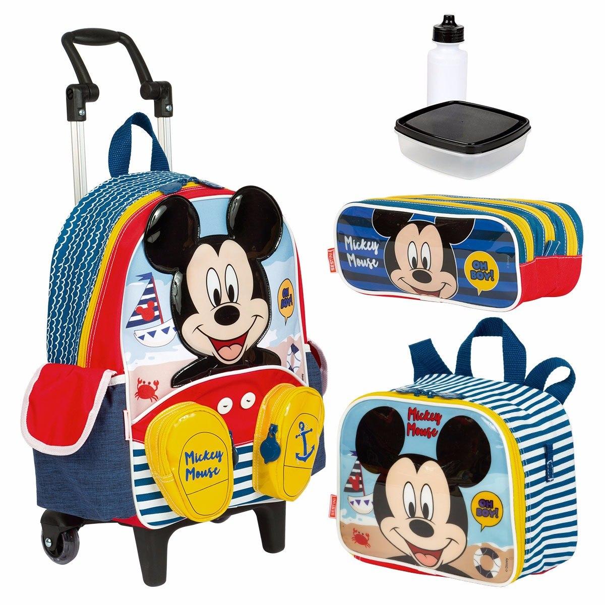 b5e8f3d8411e1a kit mochila infantil lancheira estojo mickey mouse m sestini. Carregando  zoom.