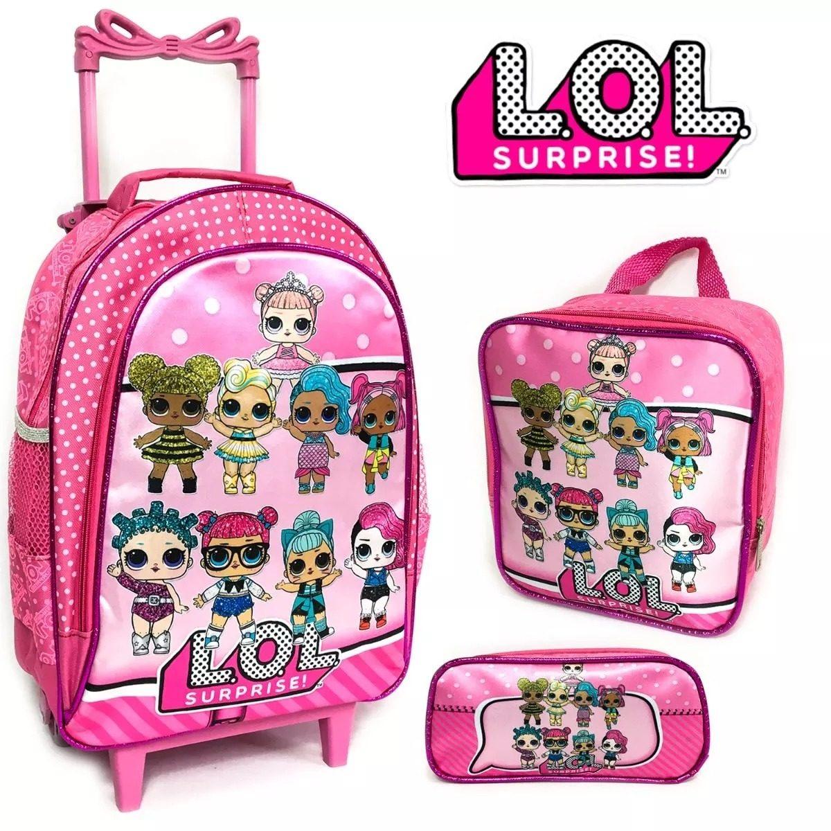 673cf97b70 kit mochila infantil rodinha lol surprise 2019 linda bela fe. Carregando  zoom.